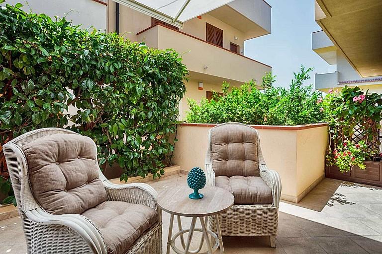 Secondo patio con tenda parasole automatizzata - Casa vacanze Ficarazzi