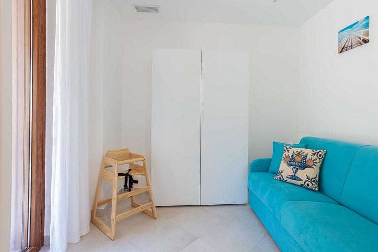 Camera con divano letto - Casa vacanze Gessuminu