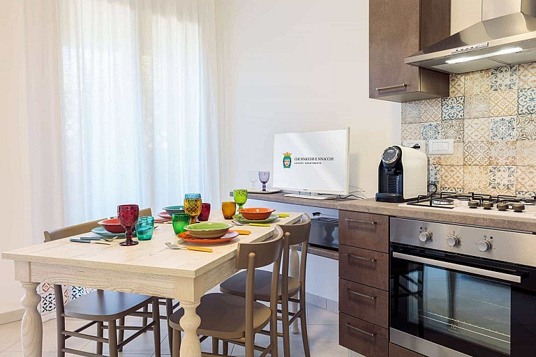 Living con cucina a vista - Casa vacanze Ficarazzi